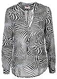 Emily van den Bergh Damen Bluse Größe 40 Schwarz (schwarz/weiß)