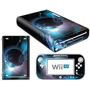 Nintendo Wii U Skin Design Foils Aufkleber Schutzfolie Set – Planet Motiv