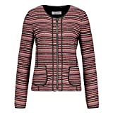 Gerry Weber Collect. Gerry Weber Collection 830015-38195 Fb.3106 Damen Blazer Reißverschluss Stretch, Groesse 38, rot/schwarz/Gemustert