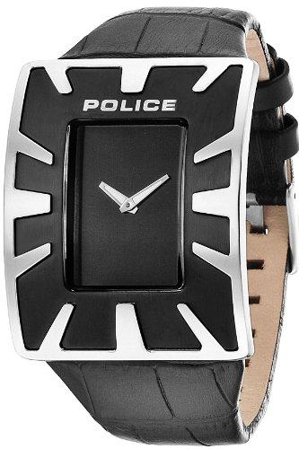 Police PL.14006JS/02 - Orologio da polso uomo, pelle, colore: nero