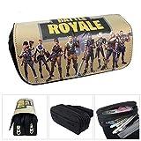 Estuche para lápices de gran capacidad con compartimentos estuches fortnite para escuelas estudiantes niñasy oficina (C)