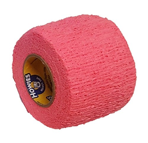 Howies Schlägertape Profi Stretch Grip Hockey-Tape, Griptape (pink), 4,57 m