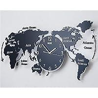 9f4d344ed201e1 FUXINGXING Le Monde Créatif Moderne Et Minimaliste La Carte Horloge Murale,  Petit Salon Personnalisé Horloge