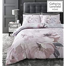 Catherine Lansfield Dramatic Floral Easy Care Single Duvet Set Blush
