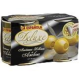 La Española - Aceitunas rellenas de anchoa deluxe - 2 x 200 g - [Pack de 3]