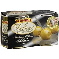 La Española Aceitunas Rellenas de Anchoa Deluxe - Pack de 2 x 200 g - Total: 400 g