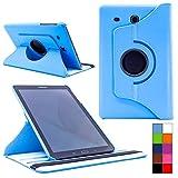 COOVY® Cover für Samsung TAB E 9.6 SM-T560 SM-T561 SM-T565 Rotation 360° Smart Hülle Tasche Etui Case Schutz Ständer | Farbe hellblau