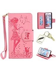 Soft Slim Bumper Case PU Case for Apple iPhone 6(4.7Inch) Protective Cover Flexible Cover Cap–Photo Frame Keychain # Year Light Soft Light Anti-shock Cover Case 6