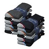Lavazio® 6   12   18   24 Paar Herren Arbeitssocken Sportsocken Thermo Socken dick & herrlich in dunklen Farben, Größe:43-46, Farbe:mehrfarbig - als 12 Paar Packung