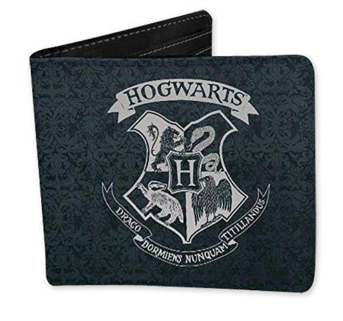 Close Up Harry Potter Geldbörse mit Hogwarts Logo, Geldbeutel aus Kunstleder in Schwarz -