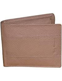 Style98 Pure Leather Brown Men' Slim Wallet With Card Holder & Coin Pocket