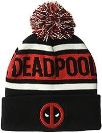 Marvel - Beanie Hat - Deadpool Winter Pom Beanie, 100% Acrylic Fabric mens