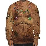 Ugly Christmas Sweater Herren UFODB Männer Sweatshirt Pullover Rundhals Langarmshirt Freizeit Weihnachtspulli Winterpullover Bluse Sportswear Oversize Tops