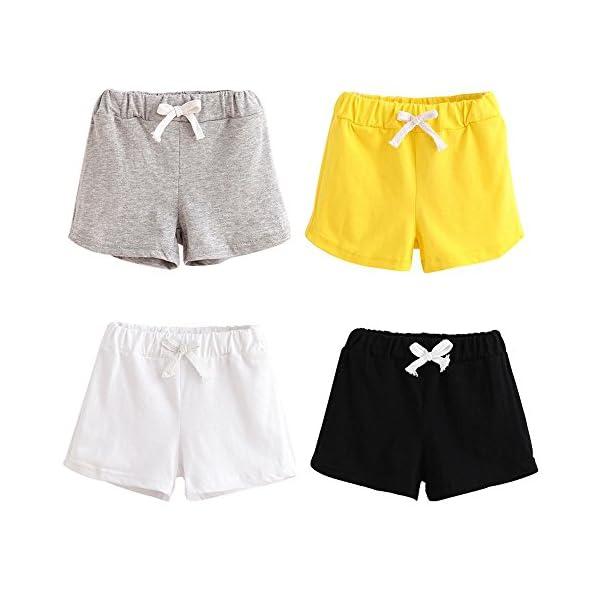 Covermason Bebé Unisex Niños Niña Moda Algodón Ocio Pantalones Cortos (2Años, Rojo) 5