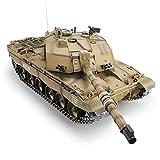 AXJJ Tanques RC Tank 1/16 2.4GHz Reino Unido Challenger 2II RC Modelo de Tanque con 320 Grados de torreta giratoria Move Barrel Control Remoto Tanque Panzer