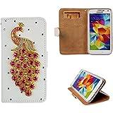 xhorizon® Premium Leder Tasche Flip 3D Blinkend Strass Diamant Kristall Stand Brieftasche Case Hülle für iPhone 4/4s/5/5s/6/6+ Plus Samsung GALAXY S3/S4/S5/Note2/Note3/S3 Mini/S4 Mini