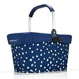 Reisenthel carrybag spots navy Henkelkorb Einkaufskorb + Cover Abdeckung navy blau