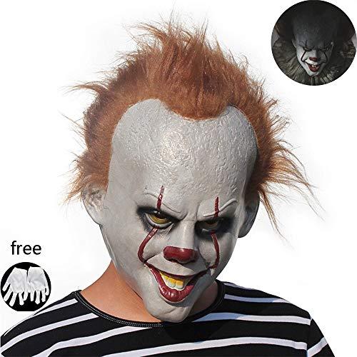 Weiße Clown Handschuhe - Kungfu Mall Halloween-Party-Gesichtsmaske Horror Stephen King's