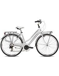 """'torpado bicicleta City Fenice Next 28""""Mujer Alu 3x 7V Talla 48blanco (City)/Bicycle City Fenice Next 28Lady Alu 3x 7S Size 48White (City)"""