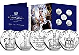 2018 The Sapphire Coronation Fifty Pence Coin Set