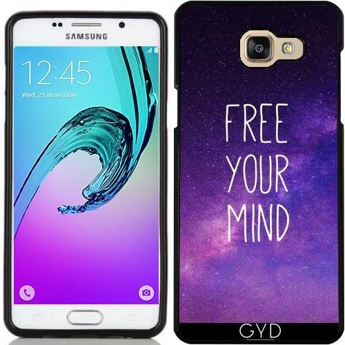Custodia in silicone per Samsung Galaxy A5 2016 (SM-A510) - Libera La Tua Mente Cielo Blu Notte by Petra - Libera Accessori Natale
