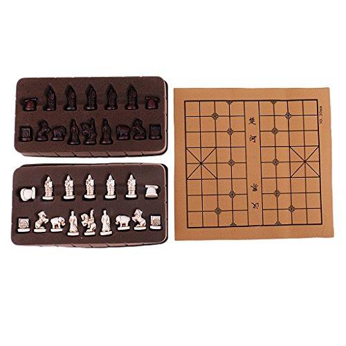 Sharplace 32 x 28cm Xiangqi Chinesisches Schachspiel Set mit 32 Schachfiguren