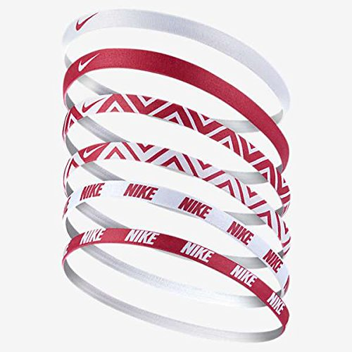 Nike Printed Headbands Assorted 6Pk Stirnband, Vivid Pink/White, One size (Pony Auf Einem Stirnband)