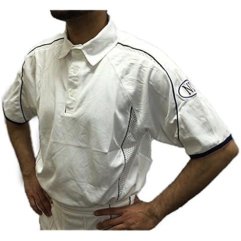Sólo Cricket ropa jugadores juego de manga corta camisa de color blanco talla S, M, L, XL y XXL, color blanco, tamaño small