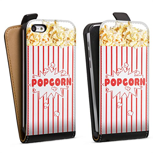 Tasche kompatibel mit Apple iPhone 5c Flip Case Hülle Popcorn Kino Design - 5c Case-kino Iphone