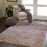 Al Salem Carpet Colorado Polyster polyproplene Carpet Dinning Room Rectangle 300 CM X 400 CM 14.2KG Gold Modern