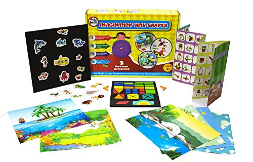 Imagination with Shapes - Magnetic 3 Activities Activity kit for 4+