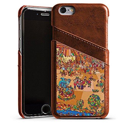Apple iPhone 5s Housse Étui Protection Coque Paris France Tour Eiffel Étui en cuir marron