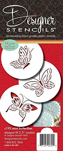 Designer Schablonen C195Schmetterling Cookie Schablonen, klein, beige/halbtransparent -