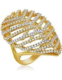 Shaze Dual Toned Drop Ring| Rings for Women Stylish | Ring for Girlfriend