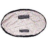 TUKA Sac de Rangement Jouet, 151 cm étanche Tapis de Jeu, épais Tapis de Jouet pour Les bébé Enfants, Organisateur Rapide pour Lego Building Block Jouets, Oiseau coloré, TKD4006 colorfulbird