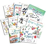 Quentin Blake Collection 10 Picture Flats Books Set Pack in Zip Lock Bag