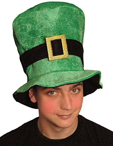 St Patricks Day Irish Green Velours Irish Mütze Fancy Dress Party Kostüm Accessoire (Damen Red Wings Mütze)