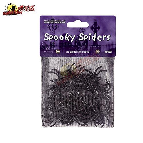 Halloween Gespenst Festival bar Szene Requisiten ghost House, KTV-Zimmer in Einkaufszentren Schlüssel liefert dekoriert Spinnenseide Baumwolle Spinnennetz 25 Taschen von winzigen (Erwachsene Kleid Kostüme Spider Web)