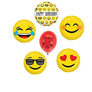 Emoji Happy Birthday Balloon Bouquet Set