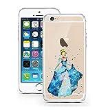 coque licaso pour iPhone 7 Plus modèle Princesse Aquarelle Conte de Fées en TPU Protection élégante pour iPhone 7 Plus Apple en silicone ultra-mince Protégez votre téléphone avec style