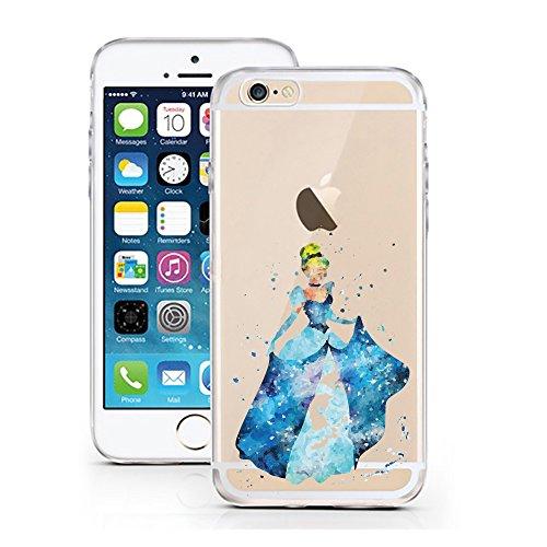 Cinderella Schuh Disney (iPhone 5 5S SE Hülle von licaso® für das Apple iPhone 5S aus TPU Silikon Prinzessin Aquarell Krone Prinz Comic Muster ultra-dünn schützt Dein iPhone SE & ist stylisch Schutzhülle)