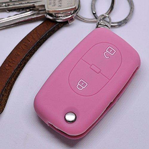 Soft Case Schutz Hülle Auto Schlüssel 2 Tasten Audi A2 A3 A4 A6 S4 TT S6 bis 2007 / Farbe Pink