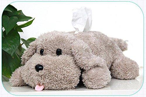 Tier Pudel Plüsch Tissue Box Hund Spielzeug Papier Box Home Schreibtisch Bett Dekor