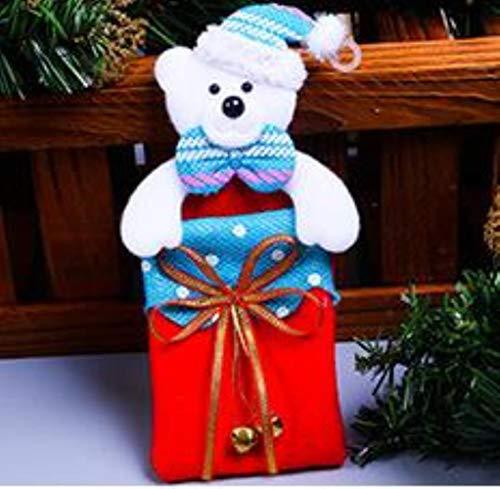 WPYAV 20 * 10 cm Weihnachtsschmuck PaketKinder Geschenk Weihnachtsmann Schneemann Deer New Year Party, 3