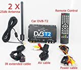 Kunfine HDTV auto DVB-T2 DVB-T ricevitore TV digitale multi Plp automobile Dtv box con due Tuner antenna