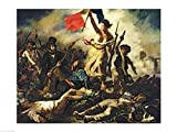Eugene Delacroix – Die Freiheit führt das Volk Kunstdruck (60,96 x 45,72 cm)