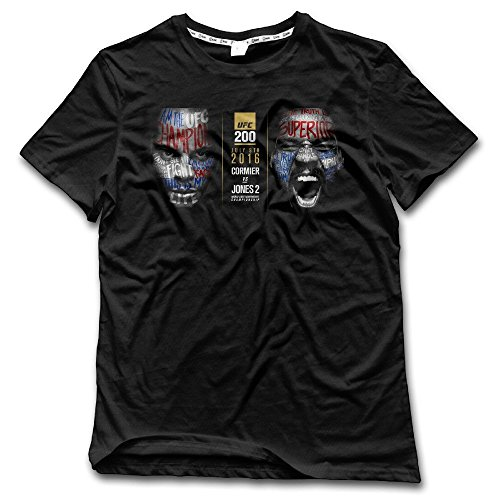 Yrewer Men's 2016 Daniel Cormier Vs Jon Jones Poster T-shirt 100% Cotton