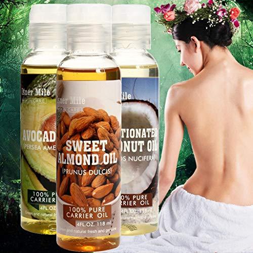 Gaddrt idratante naturale pressato a freddo a base di olio di ricino idratante cura dei capelli della pelle -5 stili-118ml (b)