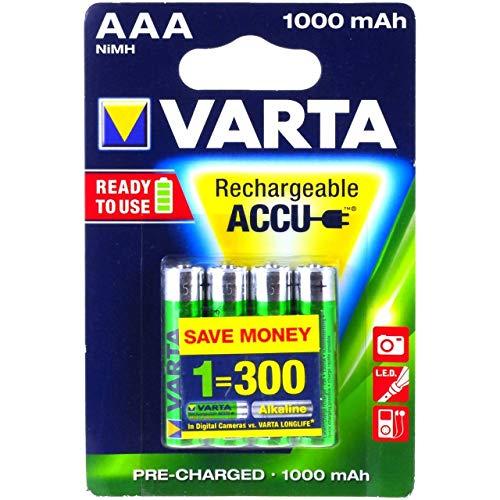 Premium Varta Power Akku HR03 LR03 Micro AAA NiMH 4er Blister 1000mAh, NiMH, 1,2V - Premium Power Akku