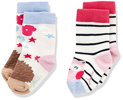 joules Baby-Mädchen Neat feet Socken, Mehrfarbig (Owl), 6-12 Monate -